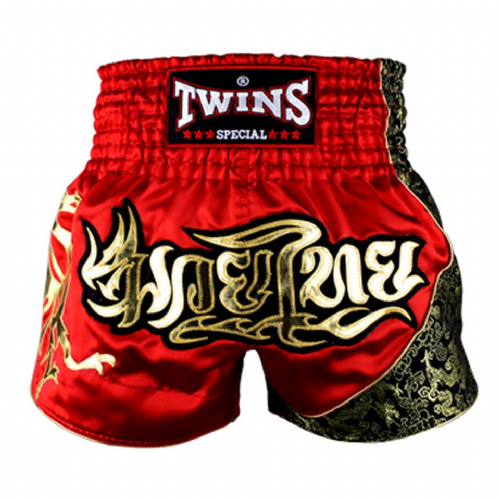 Twins TWS-151 Red/Gold Muay Thai Shorts